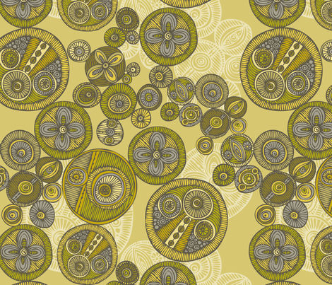 Circles fabric by valentinaharper on Spoonflower - custom fabric