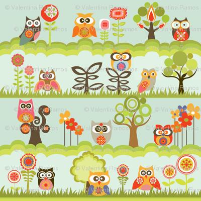 Owls in the garden