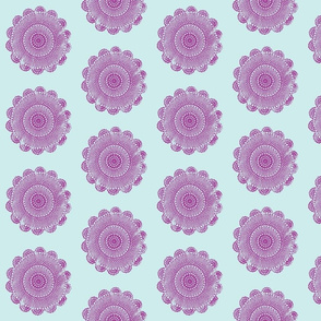 quilty doilies lilac on sky