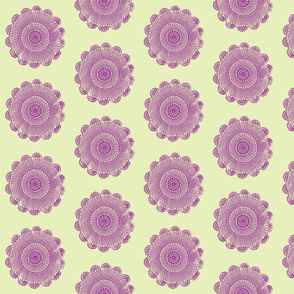 quilty doilies lilac on sage