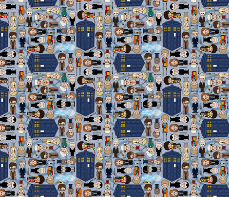 Blue Box - Blue/SMALL fabric by thirdhalfstudios on Spoonflower - custom fabric