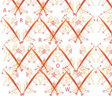 Arrows fabric by snickerslynn on Spoonflower - custom fabric