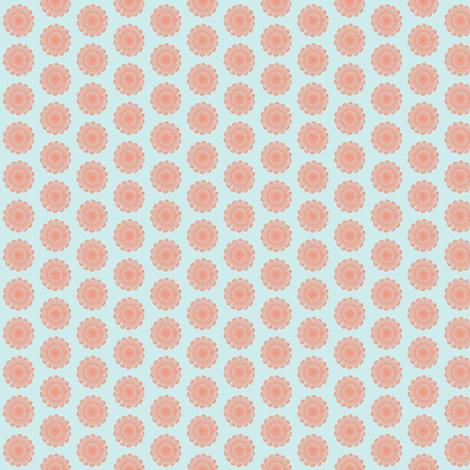 dolly doilies peach on sky fabric by tasha2shoes on Spoonflower - custom fabric