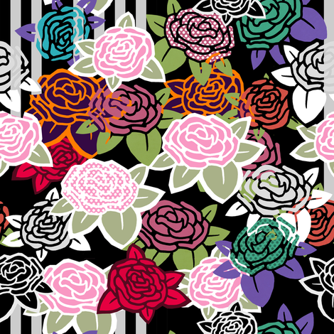Roses for the 21st Century fabric by lusykoror on Spoonflower - custom fabric