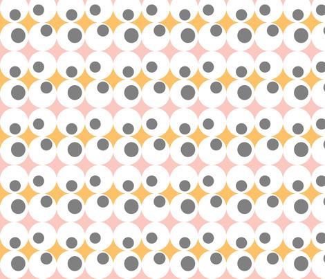 Googley Spots in PinkOrangeGrey fabric by jennysquawk on Spoonflower - custom fabric