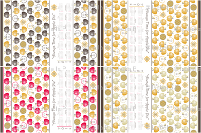Always Time for Apple Pie - 2014 Calendar Tea Towel - Retro Red Variety Pack
