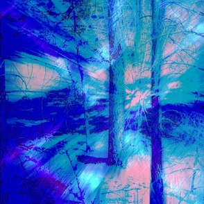 Blue Forest Morning
