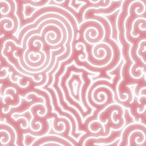 BZ Reaction - White on Pink