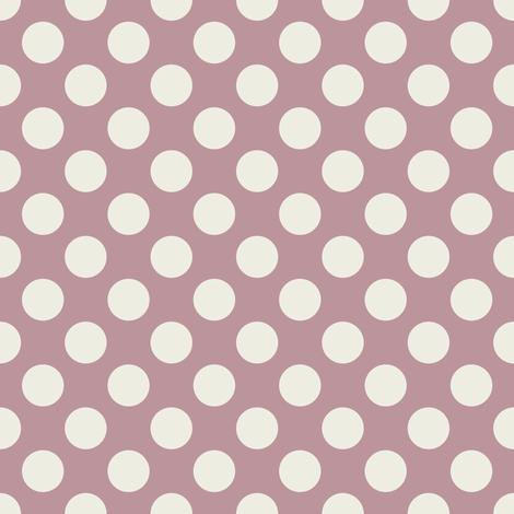 Cream Polka Dots on Mauve fabric by jumeaux on Spoonflower - custom fabric