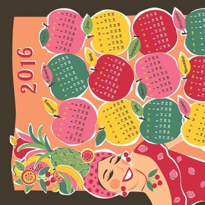 carmen tea towel calendar 2016