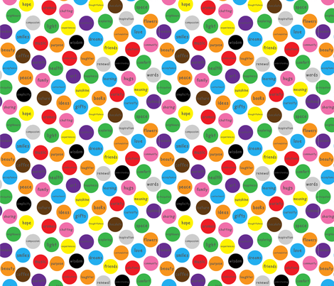 What I wish for you - spots fabric by greennote on Spoonflower - custom fabric