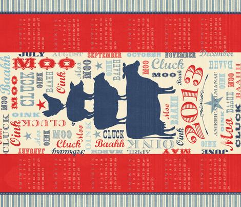 2013 American Almanac fabric by bzbdesigner on Spoonflower - custom fabric