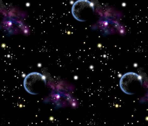 Space Planet fabric by jadegordon on Spoonflower - custom fabric