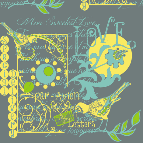 Air Special Delivery - flights of fancy fabric by paragonstudios on Spoonflower - custom fabric