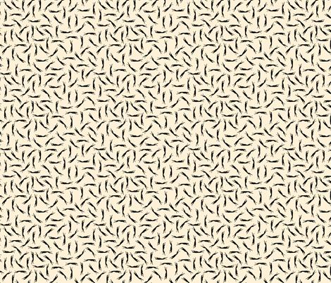 Ditsy Greyhound Silhouette  buff grey © 2012 by Jane Walker fabric by artbyjanewalker on Spoonflower - custom fabric