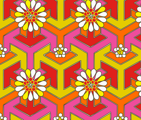 Arrow Flowers fabric by anntuck on Spoonflower - custom fabric