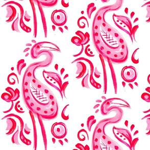 Hot Pink Paisley Flamingo