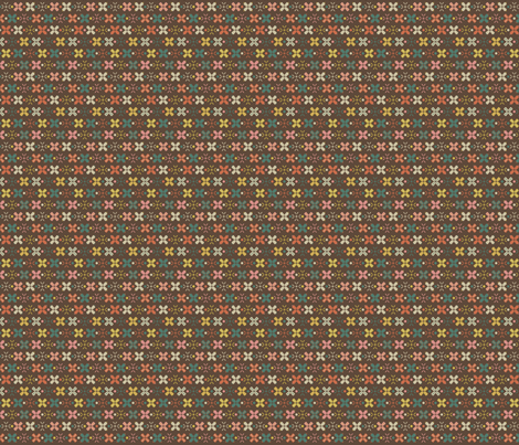 cottage evening festival brown fabric by the_quiet_studio on Spoonflower - custom fabric