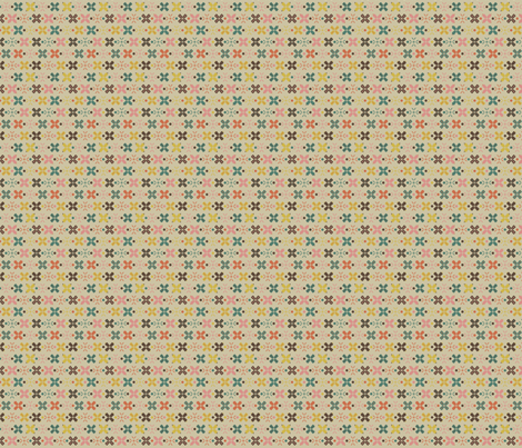 cottage evening festival beige fabric by the_quiet_studio on Spoonflower - custom fabric