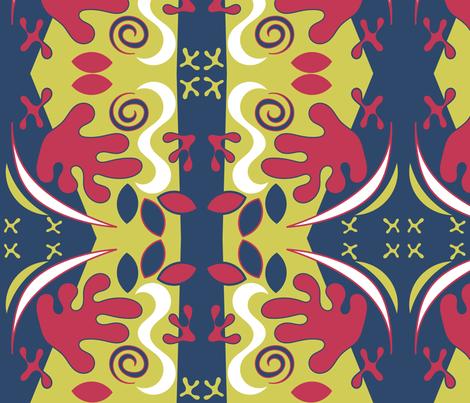 Floral Matisse fabric by ninjaauntsdesigns on Spoonflower - custom fabric