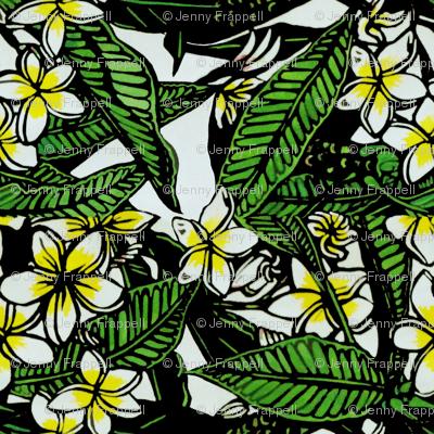 Frangipani Print for Scarf (c)indigodaze2012