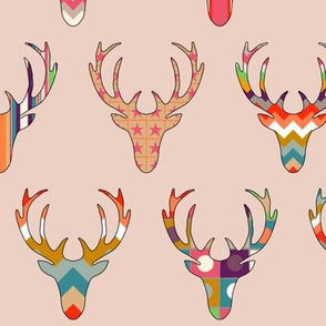 retro deer head blush