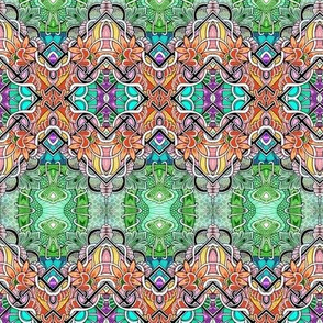 Tropical Paradise Zig Zag Patchwork