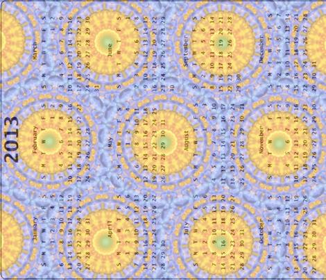 2013 Calendar - Flower Mandala 1 fabric by dovetail_designs on Spoonflower - custom fabric