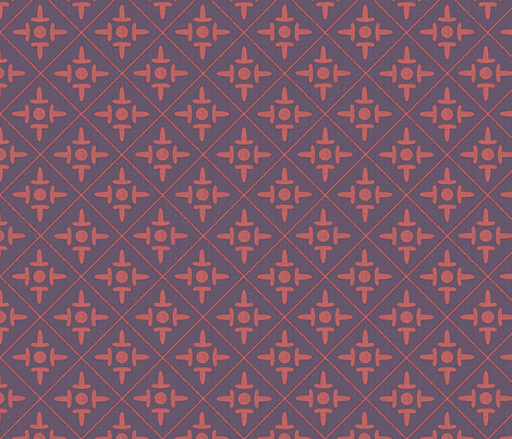 colonial_cross dusty rose fabric by glimmericks on Spoonflower - custom fabric