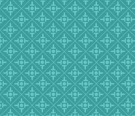 colonial_cross bali seafoam fabric by glimmericks on Spoonflower - custom fabric