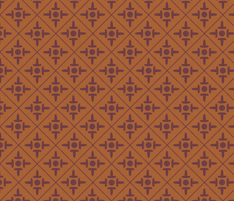 colonial_cross peanut butter and jelly fabric by glimmericks on Spoonflower - custom fabric