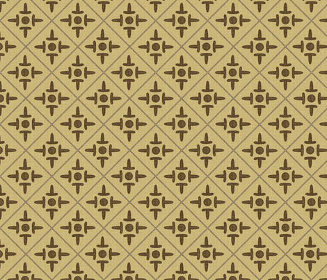 colonial_cross coffee fabric by glimmericks on Spoonflower - custom fabric