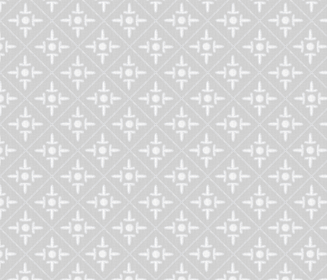 colonial_cross_gray_pearl fabric by glimmericks on Spoonflower - custom fabric