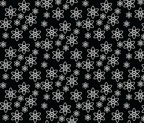 Atomic Orbits (Black and White) fabric by robyriker on Spoonflower - custom fabric