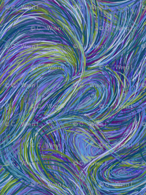 Parting Seas - Blue Waves Large