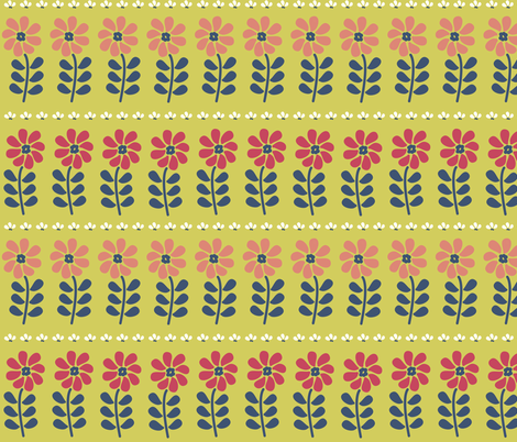 Matisse inspired flowers fabric by little_fish on Spoonflower - custom fabric