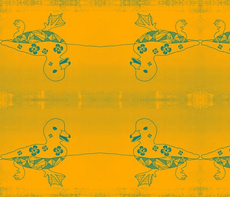 daisy duck fabric by nascustomlife on Spoonflower - custom fabric
