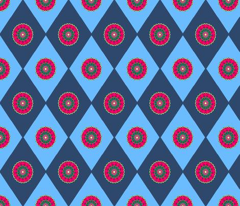 Diamond-8X12_withMotif fabric by grannynan on Spoonflower - custom fabric