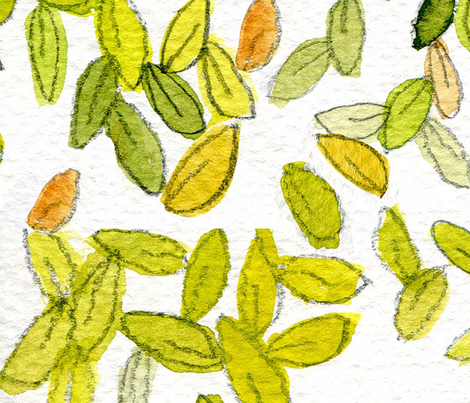 Scattered Leaves fabric by tippstert on Spoonflower - custom fabric