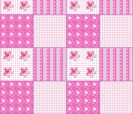 Plumeria Coordinate fabric by koalalady on Spoonflower - custom fabric