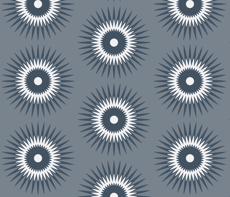 starburst in grey fabric by fable_design on Spoonflower - custom fabric