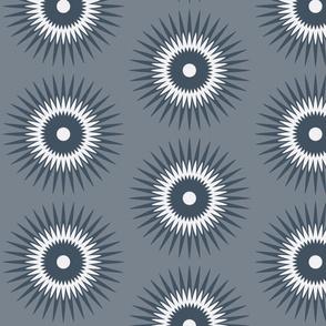 starburst in grey