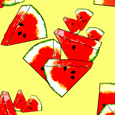 slices of summer fabric by nalo_hopkinson on Spoonflower - custom fabric