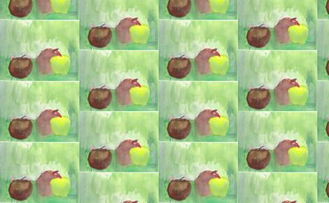 Apples fabric by artist55 on Spoonflower - custom fabric