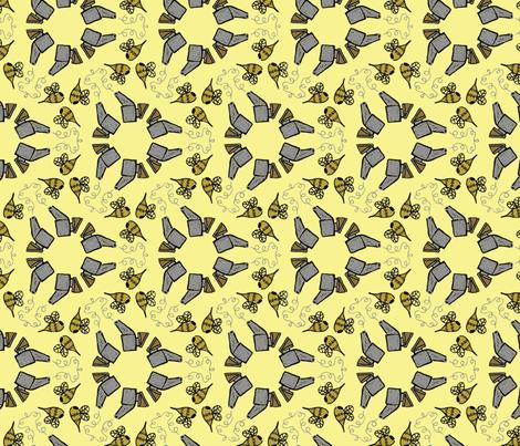 Smoke 'em Bees fabric by nefernika on Spoonflower - custom fabric