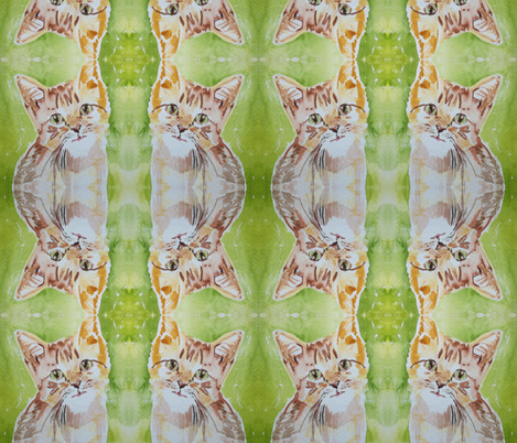 Catlady fabric by jennyvorwaller on Spoonflower - custom fabric