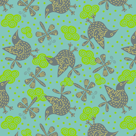 Summer_Sky fabric by yellowstudio on Spoonflower - custom fabric