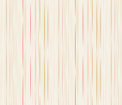 Sassy Fox - Neutral stripe fabric by eveningsongink on Spoonflower - custom fabric