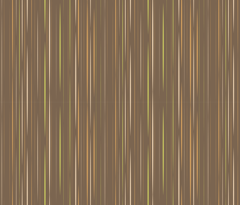 Sassy Fox - Chocolate stripe fabric by eveningsongink on Spoonflower - custom fabric
