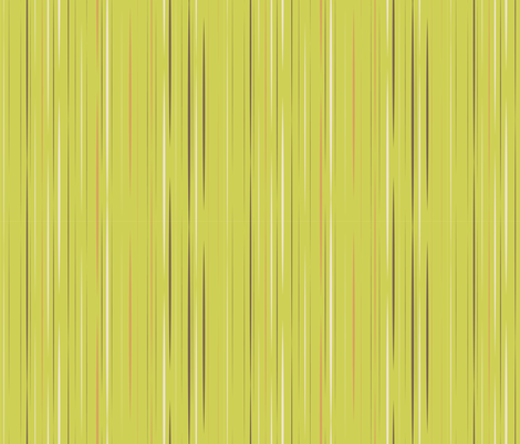 Sassy Fox - Green stripe fabric by eveningsongink on Spoonflower - custom fabric
